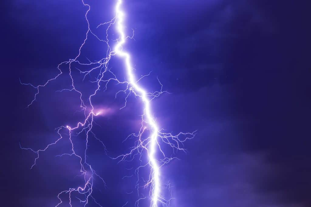 What is Flash Fiction - represented by a lighting strike.