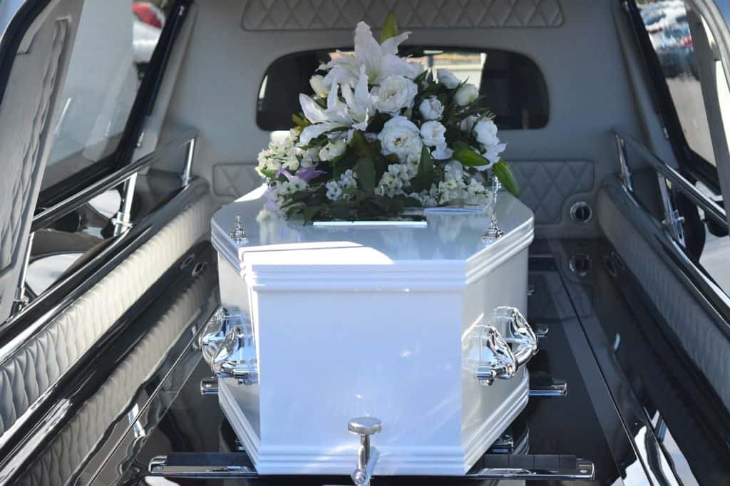 Coffin in a hearse - in memoriam