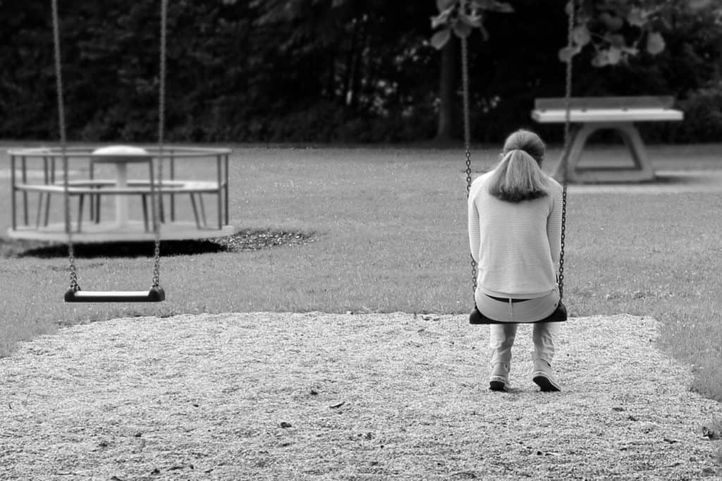 Woman in playground