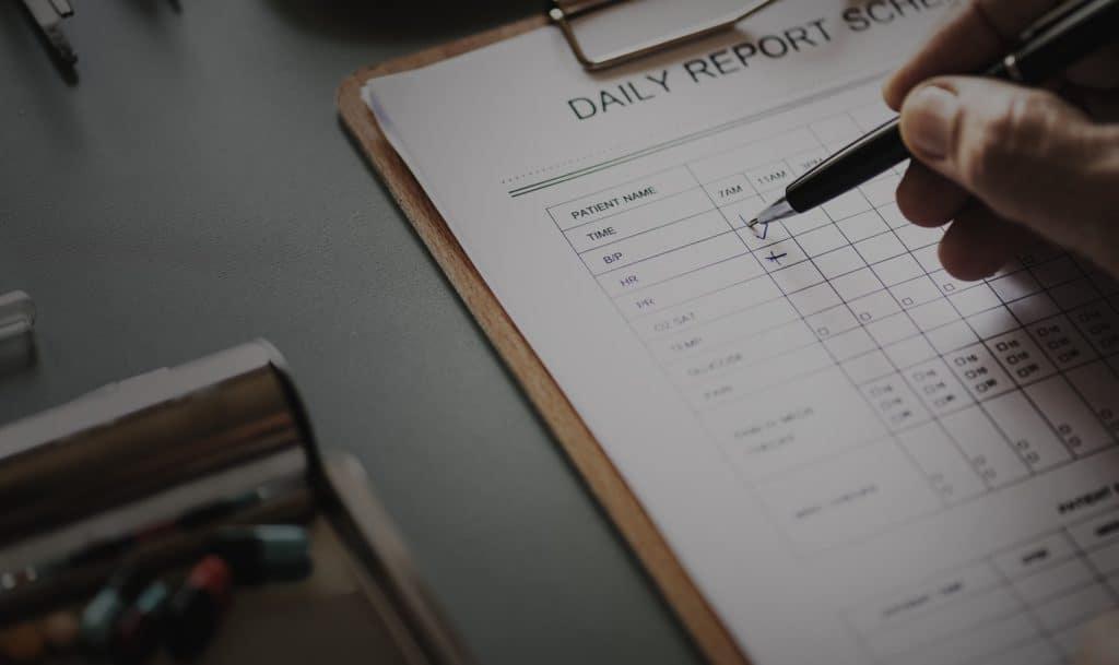 doctor's paperwork