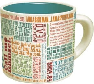 Gifts for writers - literature mug