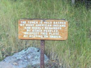 Sign at Bear Lodge