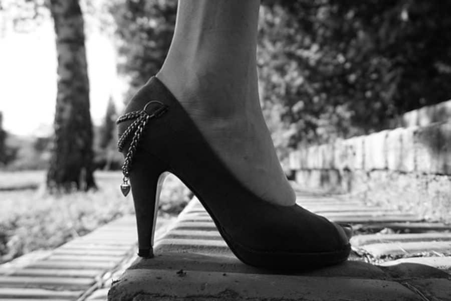 Stilettos by a Gravestone