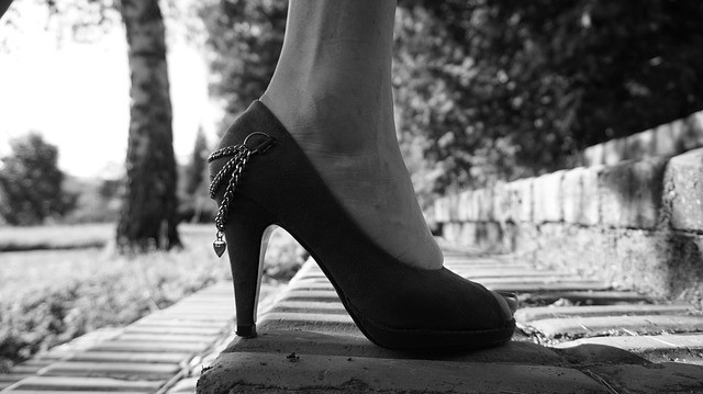 Stilettos by a Gravestone