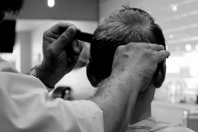 Atlantic City Barber giving a haircut