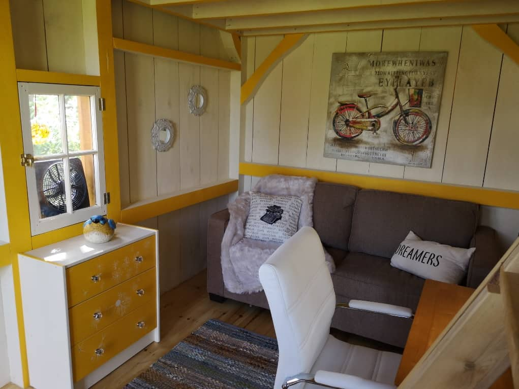 Atwood Bunkie Interior - Dreamers Writing Farm