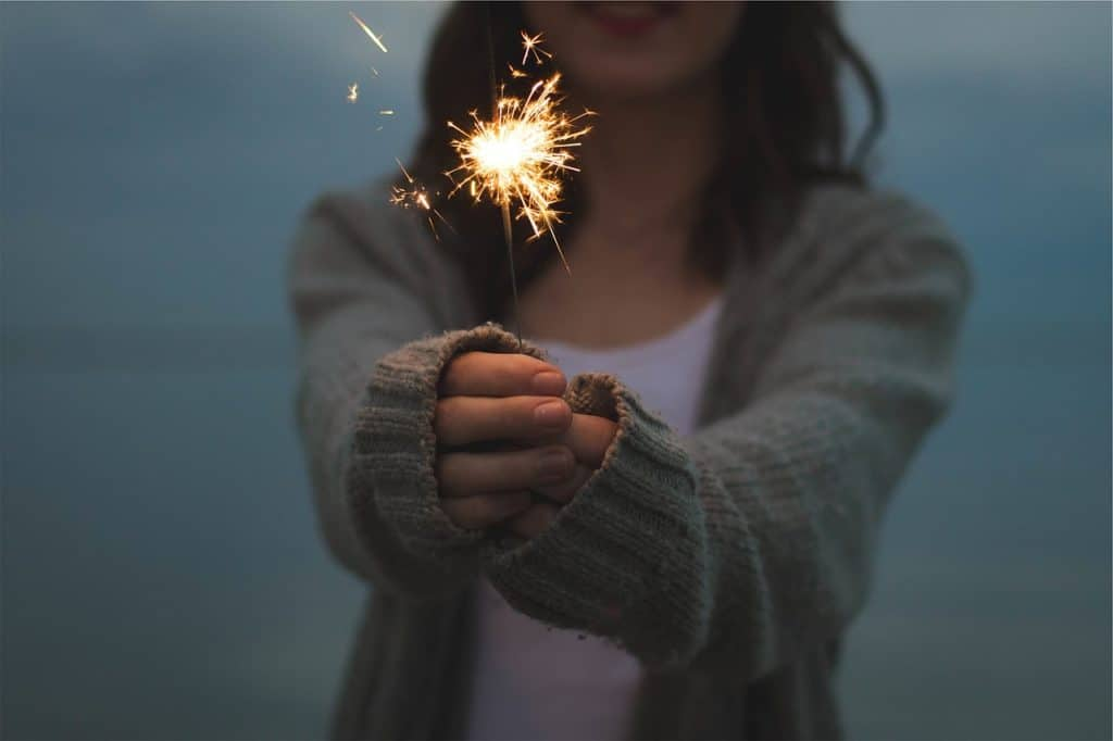Flash fiction and nonfiction contest - woman with sparkler