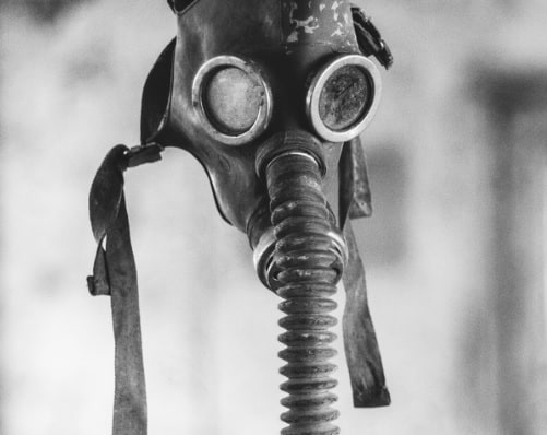 "Gas Mask image used in story ""Sometimes I Feel Like Chernobyl"""